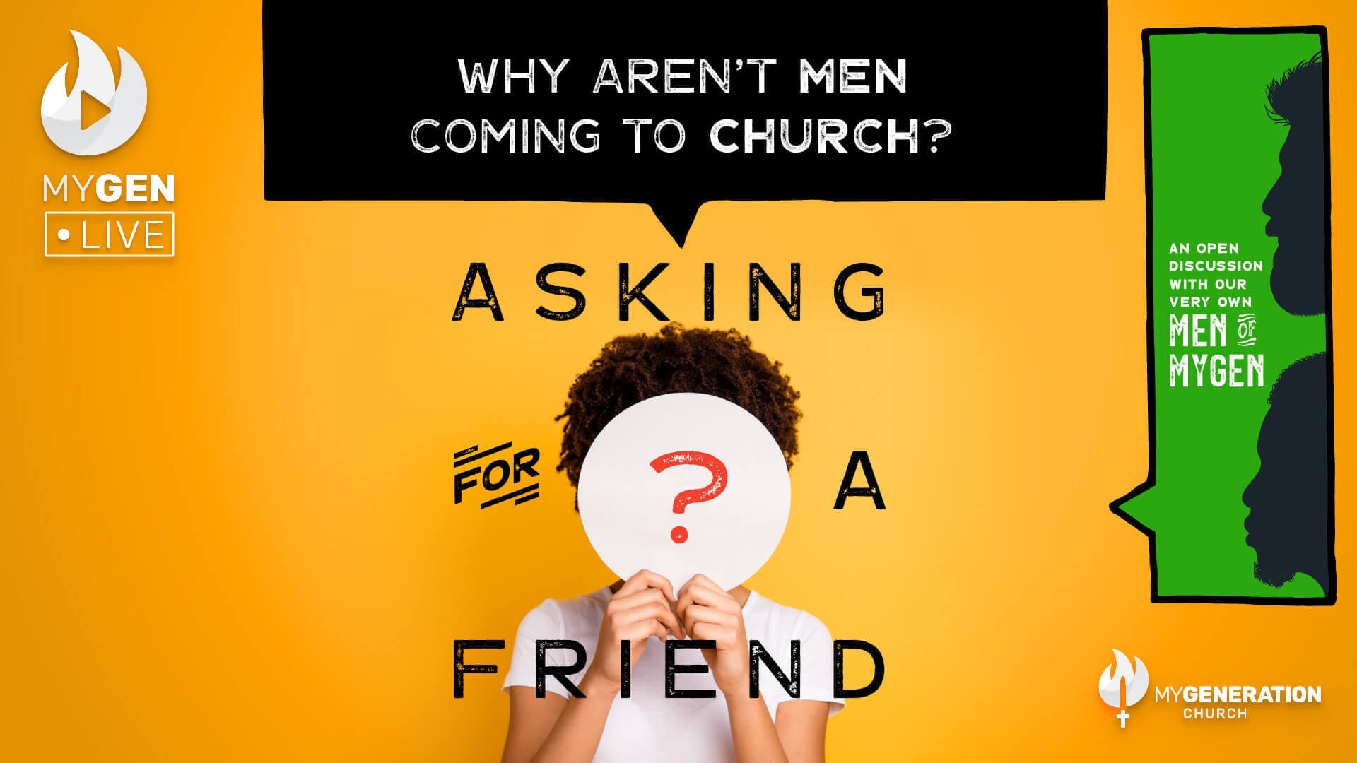 """Featured image for """"MyGen LIVE: Why Aren't Men Coming to Church? Asking For A Friend."""""""