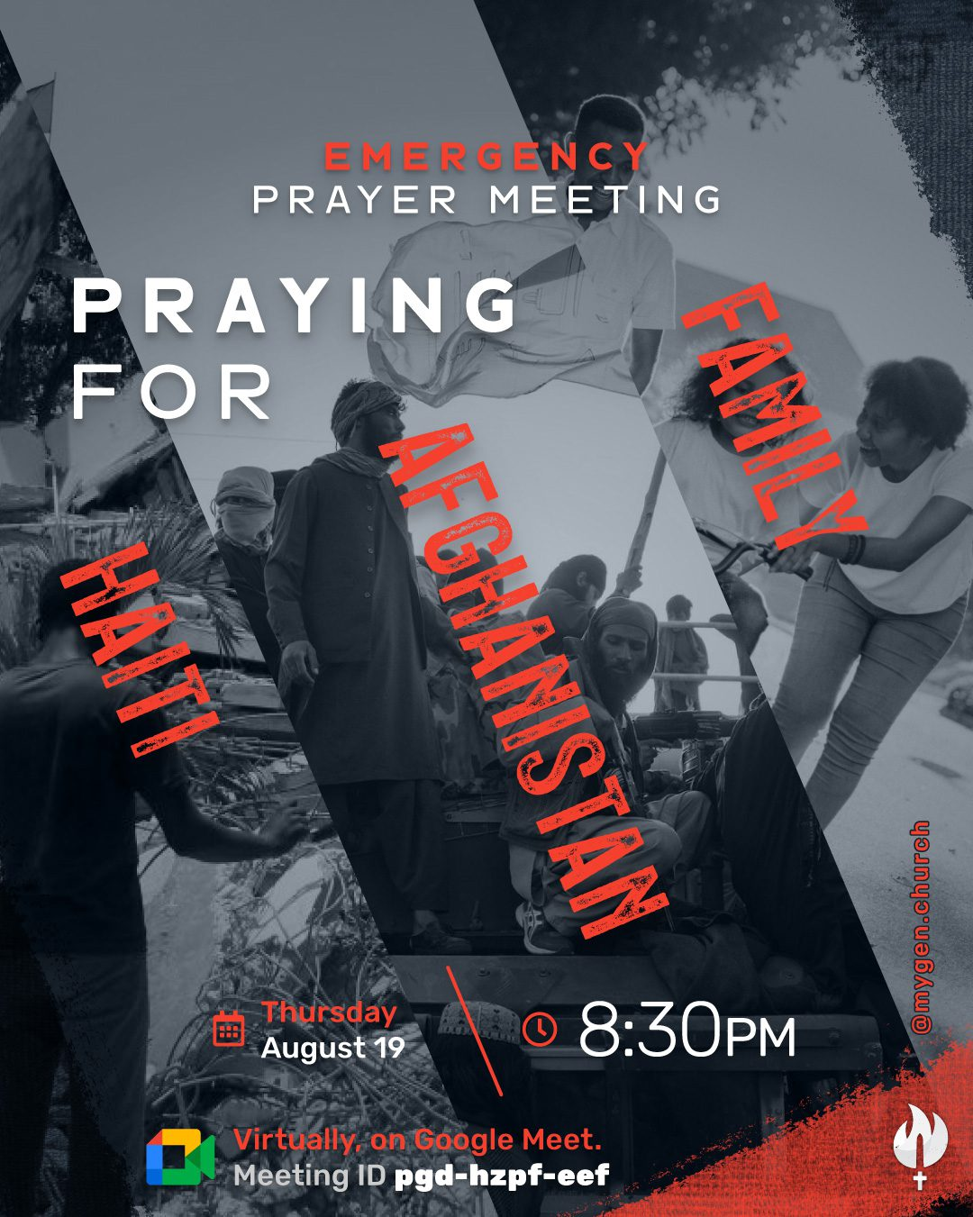 Emergency Prayer Meeting for Haiti, Afghanistan, and our Families